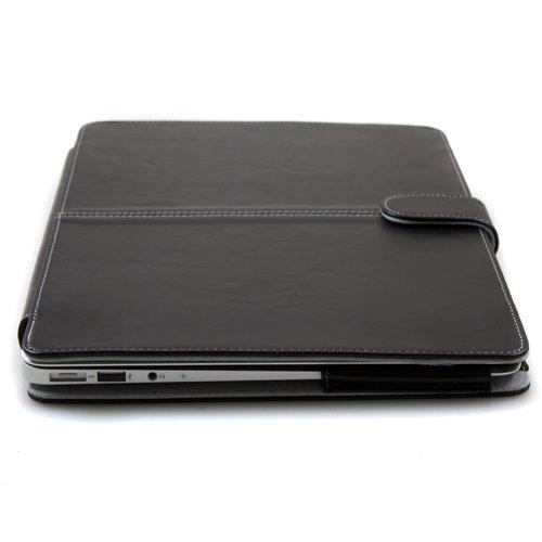 R-VISION レザーカバーケース for MacBook (New MacBook 12インチ用, ブラック) 新型のMacBook12インチ用新登場! スタイリッシュで機能的なカバー!