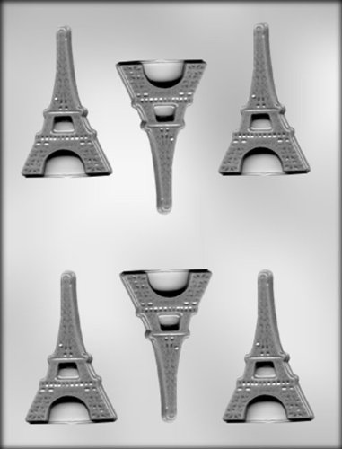 CK Products 3-Inch Flat Eiffel Tower Chocolate Mold (Ck Baking compare prices)