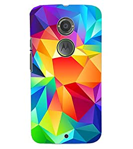 ColourCraft Colourful Pattern Design Back Case Cover for MOTOROLA MOTO X2