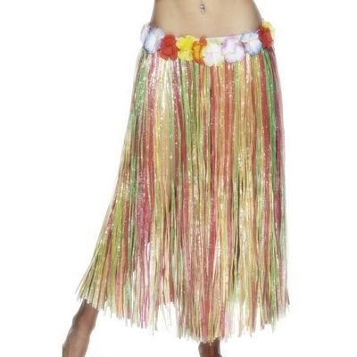 Hawaiian Hula Skirt Multi Coloured Ladies Fancy