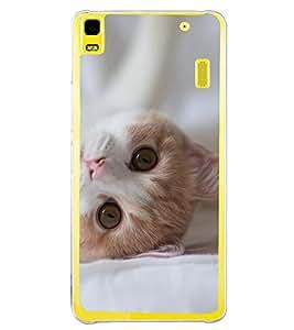 Cute Cat 2D Hard Polycarbonate Designer Back Case Cover for Lenovo K3 Note :: Lenovo A7000 Turbo