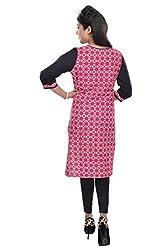 Nishiva Women's Pink Cotton Kurta NWK1010_L