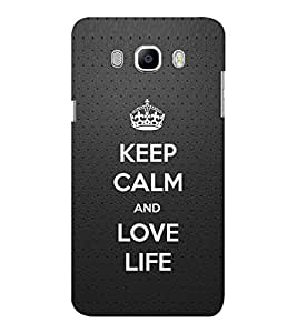 EPICCASE Love life Mobile Back Case Cover For Samsung J7 2016 (Designer Case)