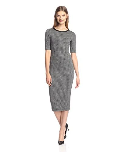 A.B.S. by Allen Schwartz Women's Midi Dress with Faux Leather