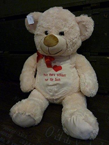 XL 95cm Kuschelbär Riesen Teddybär Stofftier