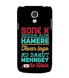 Sone K Zever Hamere Tevar 3D Hard Polycarbonate Designer Back Case Cover for Samsung Galaxy S4 Mini i9190