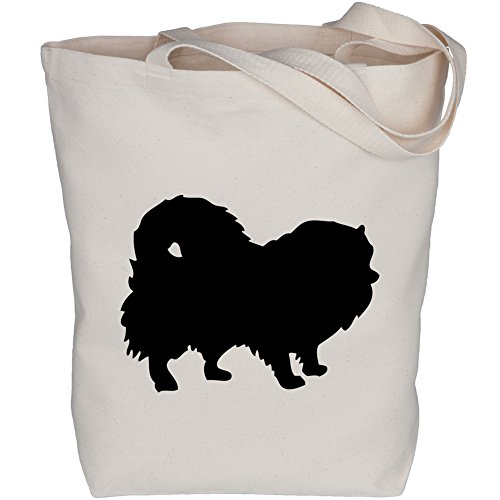 Peek A Pom Silhouette Organic Canvas Tote Bag
