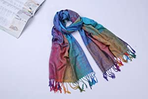 X&Y ANGEL Multi Color Elegent Fashion Dot Long Soft Wrap Lady Georgette Shawl Scarf Scarves Pashmina Clothing S007
