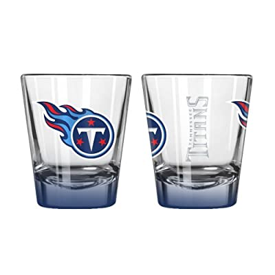 NFL Tennessee Titans Elite Shot Glass Set (2-Pack), 2-Ounce