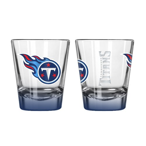 NFL Tennessee Titans Elite Shot Glass, 2-ounce, 2-Pack