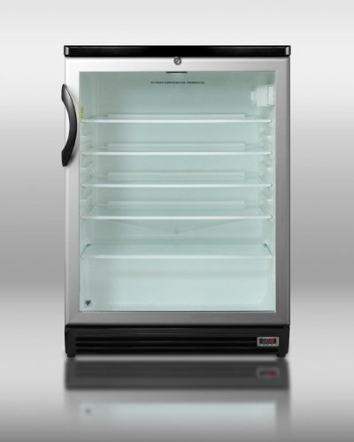 5.5 cu. ft. Compact Refrigerator with Adjustable Glass Shelves Front Lock Glass Door Digital Thermostat for Red Wine/European Ales and Commercially Approved