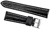 Breitling Black Crocodile Leather 24 mm Strap 760P