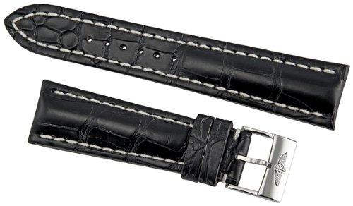 Breitling Black Crocodile Leather 24 mm Strap 760P