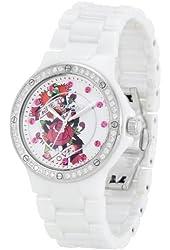 Ed Hardy Dreamer True Love Ceramic/swarovski Crystal Watch