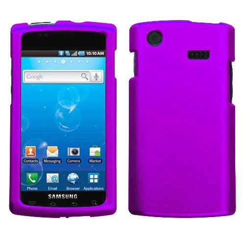 Purple Rubberized Hard Case for Samsung Captivate i897 (Galaxy S) AT&T (Samsung I897 Case compare prices)
