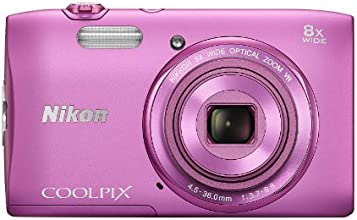 Nikon COOLPIX S3600 20.1 MP Digital Camera with 8x Zoom NIKKOR Lens and 720p HD Video (Pink)
