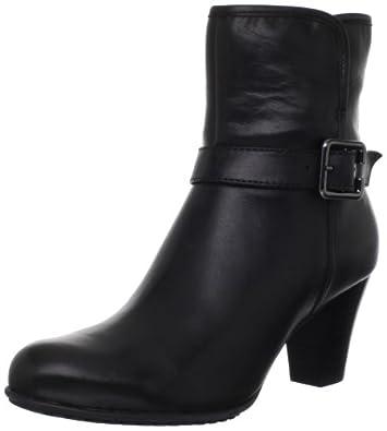 (快抢)其乐Clarkst女士缓震时尚真皮靴Study Grade Ankle Boot 黑 折后$76.36