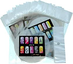 AIRBRUSH NAIL STENCIL SET # 2 PACKAGE OF 20 NAIL TEMPLATES