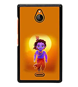 printtech Lord God Krishna Small Cartoon Back Case Cover for  Nokia XL Dual SIM RM-1030/RM-1042 with dual-SIM card slots