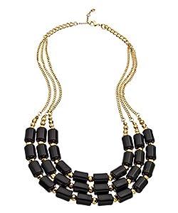 Amazon.com: Blu Bijoux Gold and Black Beaded Bib Necklace: Jewelry