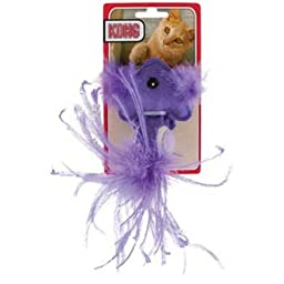 KONG Tennis Ball Fish Catnip Toy, Colors Vary