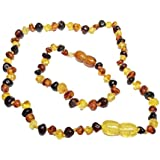 Baltic Amber Teething Necklace And Bracelet For Baby/Toddler-Unisex-Multicolor