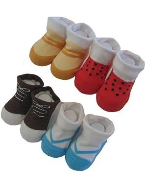 Baberoo Organic Cotton Socks for 0-12 Months