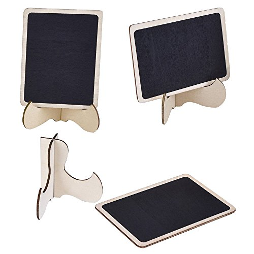 BA-SAFE 10 PACK Mini Rectangle Chalkboards with Support Easel for Message Board Signs, Weddings , Parties and Table Numbers, Food Presentation, Price Display (Number Safe compare prices)