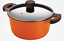 Alda Die Cast Non Stick Casserole Tall 24cm With Glass Lid with Ceramic Reinforcement Cookware