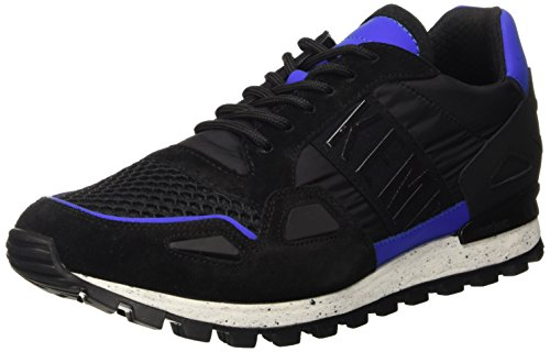 Bikkembergs Fend-Er 739 Shoe M Nylon/Nabuk, Scarpe Low-Top Uomo, Nero (Black/Blue), 44 EU