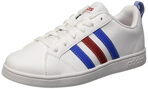 Adidas Vs Advantage K Scarpe Low-Top, Unisex bambini, Multicolore (Ftwwht/Blue/Powred), 38 2/3