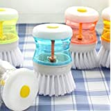 Cleaning Brush With Liquid Soap Dispenser, Self Dispensing Cleaning Brush (Colours As Per Availability)