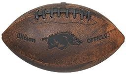 NCAA Arkansas Razorbacks Wilson 9-Inch Throwback Football