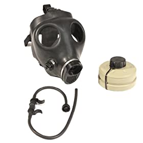 Israeli Civilian Gas Mask with NBC NATO Filter and Drinking Hydration Tube