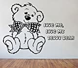 Loud Designs Scruffy Teddy Bear Giant Wall Art,Stic