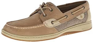 Sperry Top-Sider Women's Bluefish 2 Eye Linen/Oat Boat Shoe,Off White,9.5 W US