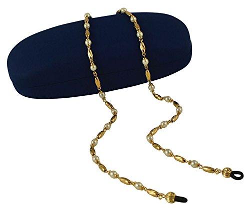 Indulgence lusso perla e diamante taglio occhiali da donna catena oro catena con scatola regalo