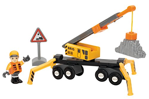 Brio Megs Crane and Load Kit Train - 1