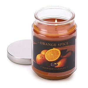 Orange Spice Cinnamon Clove Scented Glass Jar