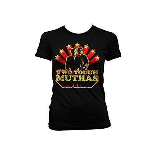 Officially Licensed Merchandise Two Tough Muthas Girly T-Shirt (Black), XX-Large