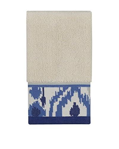 Creative Bath Dawson Fingertip Towel, Blue/White