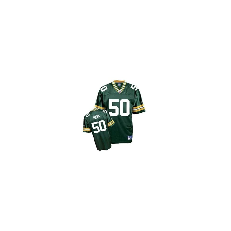 Discount AJ Hawk #50 Green Bay Packers NFL Replica Player Jersey By Reebok  for cheap