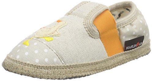 HaflingerNag Nag - Pantofole non imbottite Unisex - Bambini , Multicolore (Mehrfarbig (Beige 249)), 23