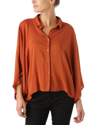 Cheap Monday - Maglia Active, manica a 3/4, donna, Arancione (Copper), XS