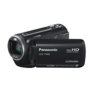 Panasonic TM80 Full HD Camcorder – Black (16GB Inbuilt Flash, x42 Intelligent Zoom, x37 Optical Zoom, Wide Angle Lens & iA + Face Recognition & New Hybrid OIS) special offers
