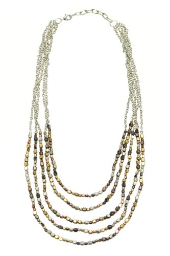 World Finds Ombre Metallic Tiered Fair Trade Necklace
