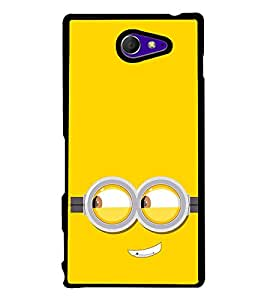 Funny Smiley Cartoon 2D Hard Polycarbonate Designer Back Case Cover for Sony Xperia M2 Dual :: Sony Xperia M2 Dual D2302