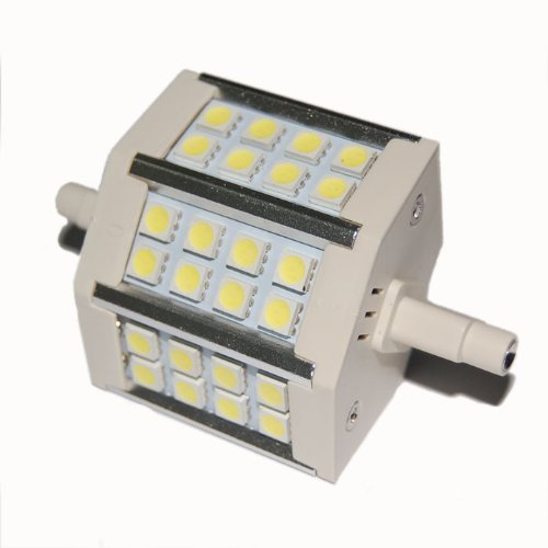 Factop Led Bulb Lamp R7S 5W Light 24 5050 Smd 430-440Lm 78Mm 85-265V Ac Replacement For Halogen Flood Lamp White