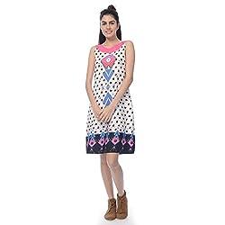 Desi Belle Casual Sleevless Printed Women's Dress