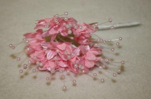 Rosa Baby Atem 12 Stiele Hochzeit Perlen Blumen Spray Geschenk Handwerk Dekoration